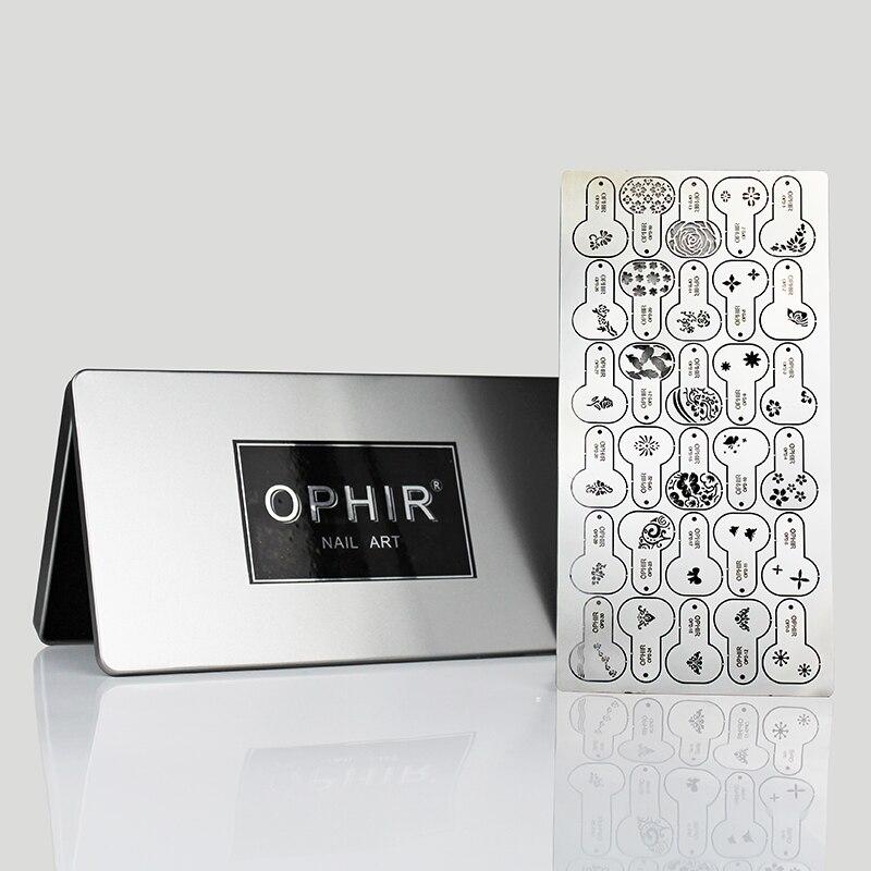 Compras baratas OPHIR 120x Metallic Airbrush Nail Stencil patrón ...