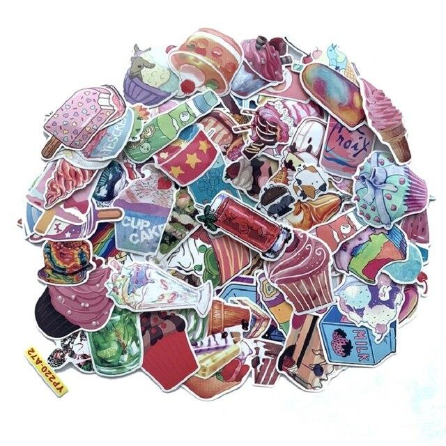 70PCS Cake Drink Ice-cream Sticker Summer Style Graffiti Stickers Scrapbooking DIY Decoration Diary Bike Suitcase Fridge Sticker