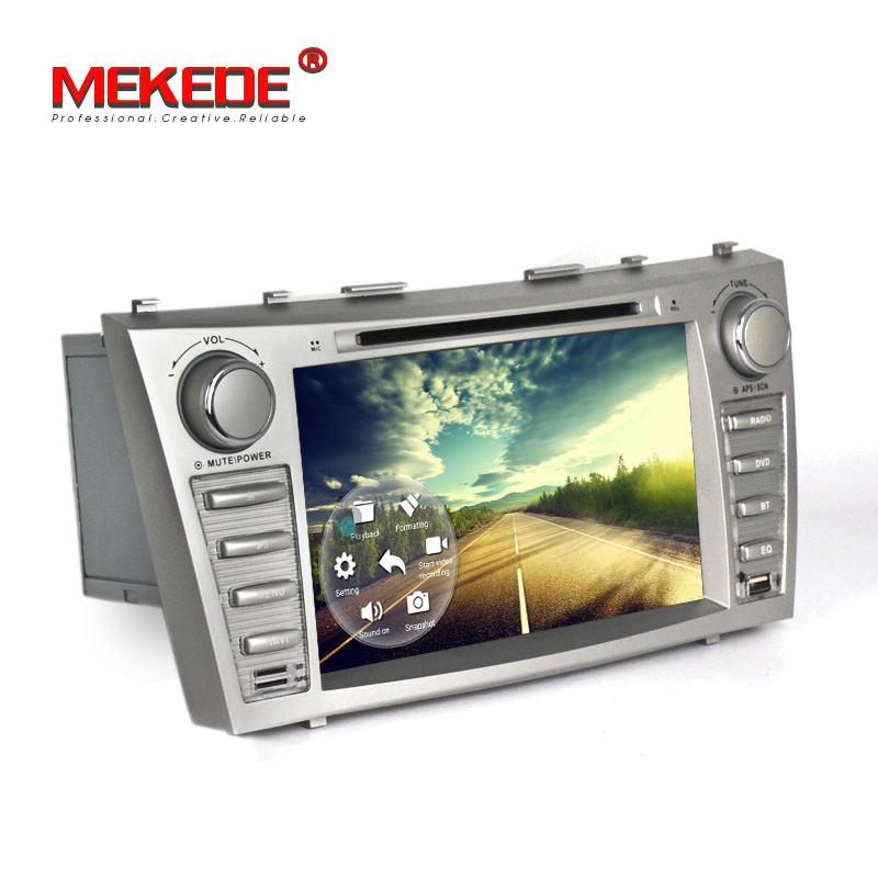 US $250 56 13% OFF|MEKEDE free shipping 2din Android 7 1 car dvd gps  navigation for Toyota camry Wifi,4g,BT quad core,1024*600,russian menu 4G  lte-in