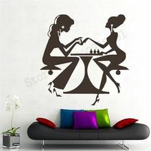 Nails Salon Wall Sticker Beauty Girl Poster Shop Girls Women Mural Art Vinyl Removeable Decor Ornament LY782