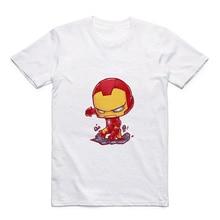 New Superhero Comic Iron Man/Black Panther/AntMan/Vision Cartoon Print Marvel Mens Modal Casual T-Shirt