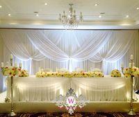 3 м x 6 м чистый белый роскошный свадебный фон сценическое Шторы Свадебные украшения