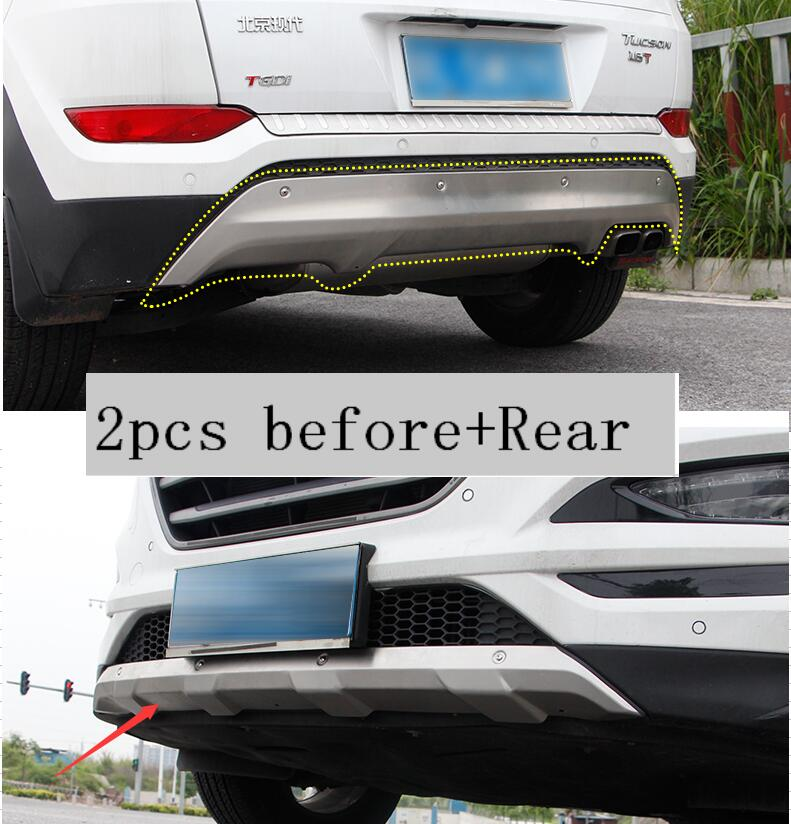 lane legend case For Hyundai Tucson 2015 2017 Stainless Steel Front Rear Bumper Protector accessories car