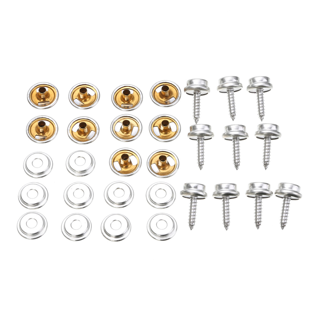 10 Set Stainless Steel 5 8 39 39 Snap Fastener Screw Kit Buttons Sockets with Screw Studs For Furniture Boat Camping Tool Parts in Buttons from Home amp Garden