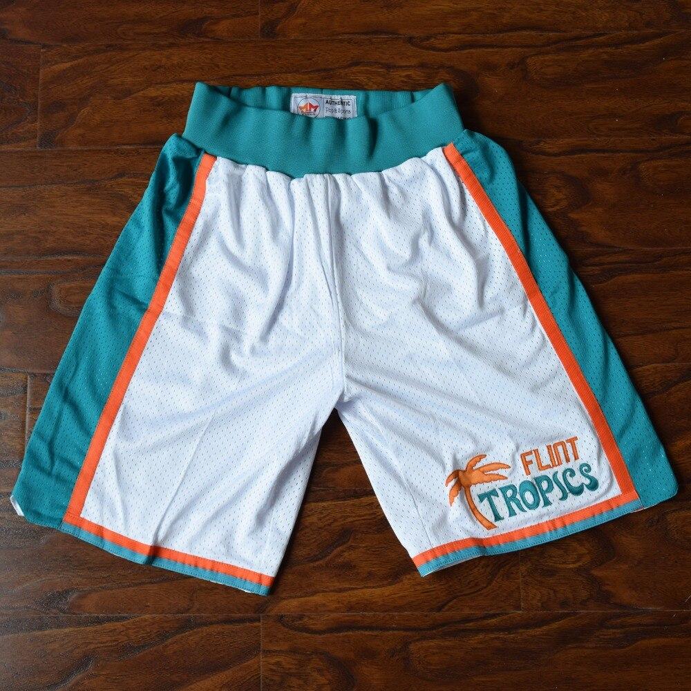 MM MASMIG Semi Pro Flint Tropics Basketball Shorts Stitched White S M L XL XXL s m l xl