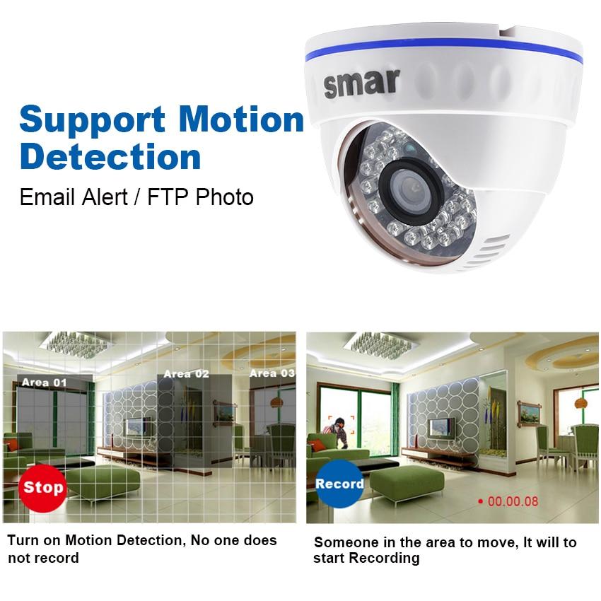 HD H.265 CCTV 1080P IP Kamera 20fps Mit 3,6mm Objektiv Nachtsicht Netzwerk Dome Kamera ICR Onvif P2P android iPhone XMEye Ansicht