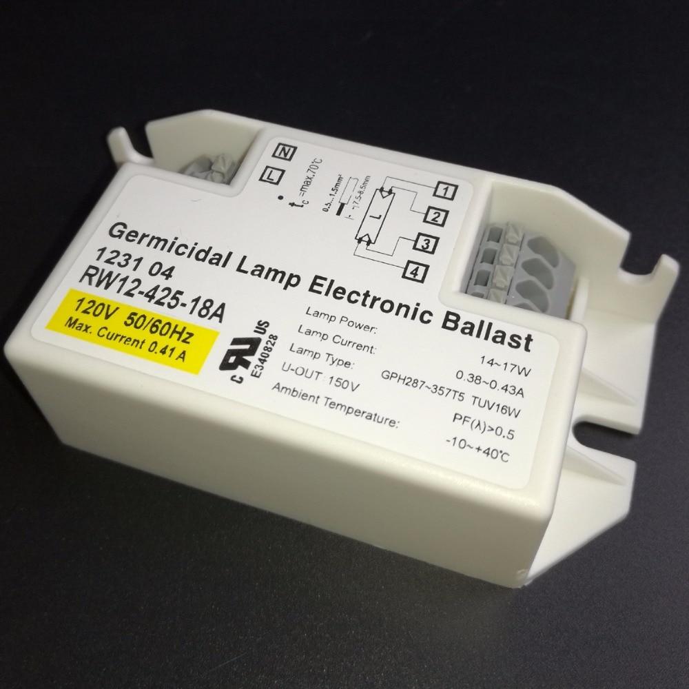 RW12-425-18A 120V 18W Germicidal Lamp Electronic Ballasts for Lighting TUV16W