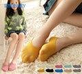 Super elastic crianças meninas doce cor de silicone Invisível antiderrapante barco meias para criança verão chinelos meias de veludo tamanho serve para todos
