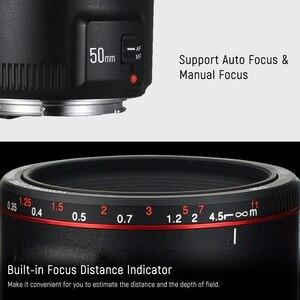 Image 4 - YONGNUO YN50mm YN50 F1.8 השני מצלמה עדשת EF 50mm AF MF עדשות עבור Canon Rebel T6 EOS 700D 750D 800D 5D Mark II IV 10D 1300D