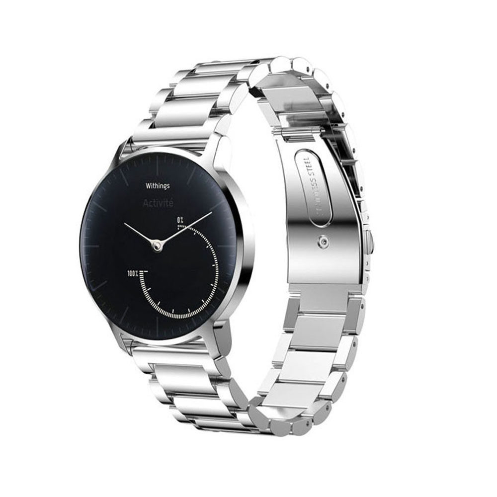 Stainless Steel Bracelet Smart Watch Band Strap For Withings Activite Pop Band Bracelet Strap with adapter Black Silver gold 18mm genuine leather watchband for withings activite steel pop smart watch band wrist strap plain grain belt bracelet tool