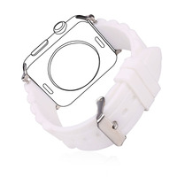 Silicone Watch Strap White Watchband For Applewatch 38MM 42MM Watch Band Silicone Strap Men Women 2016