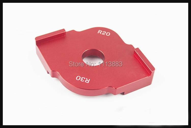 Купить с кэшбэком 1PC R10 x R15 or R20 x R30 Corner Radius Quick-Jig Template For Engraving and Router Machine