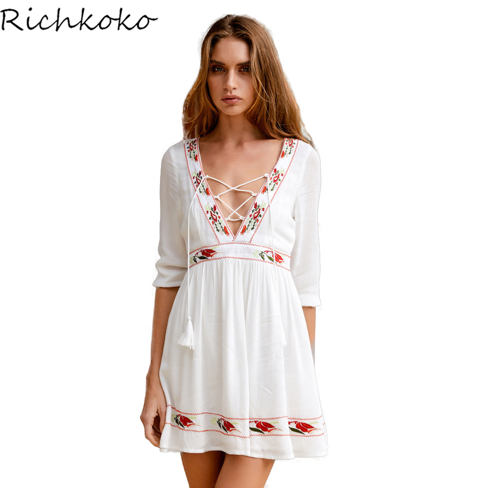 RICHKOKO Women Off Shoulder Layered Split Front Pockets Zipper Midi Dress