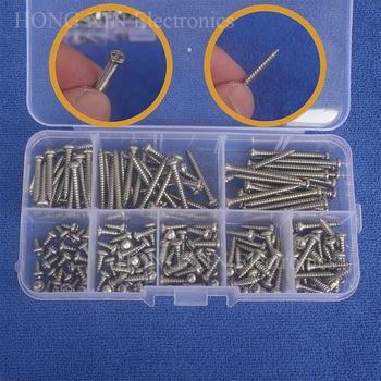 Tornillos de rosca de acero inoxidable 200 Uds M3 (3mm) con cabeza Phillips