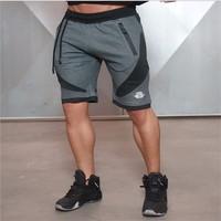 2016 New Black Gray Men S Skinny Shorts Golds Brand Casual Male Bottoms TrainingRunning Shortpant Shorts