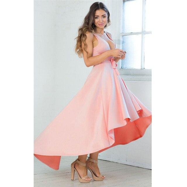 Online Shop Jessie Vinson Elegant Women Deep V-neck Sleeveless ...