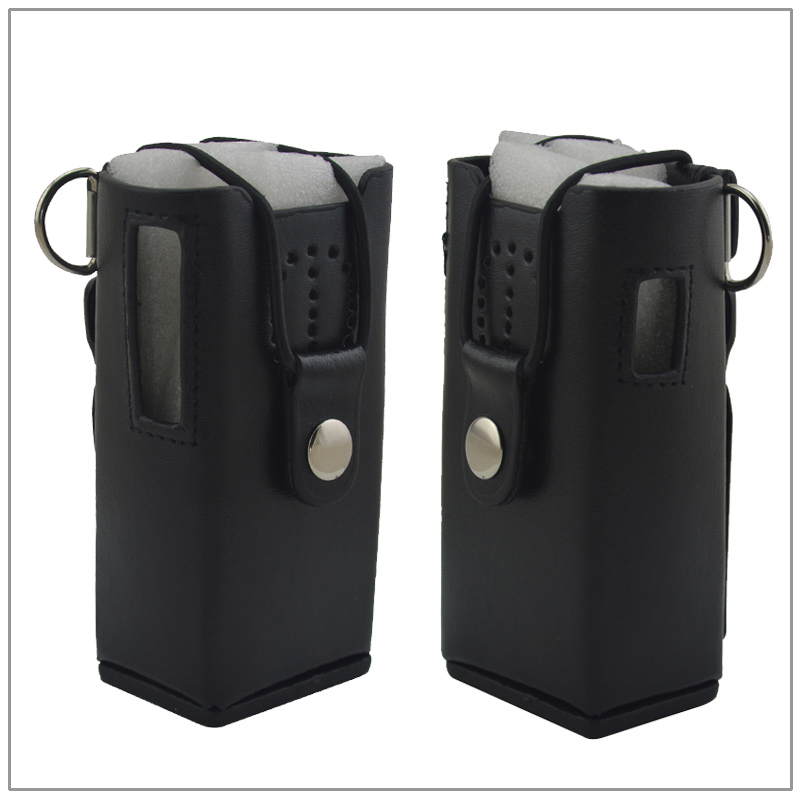 Leather Carry Case With Belt Clip & Strap For Walkie Talkie Kenwood TK-3107 TK-2107 Portable Two-way Radio
