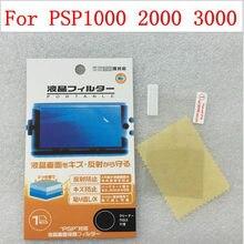 2 pçs/lote hd transparente claro película protetora superfície guarda capa para sony playstation psp 1000 2000 3000 lcd protetor de tela