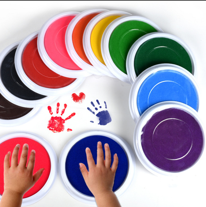 6 Colors DIY Finger Painting Drawing Toy Colored Craft Ink Pad Inkpad Colorful Stamps Toy Graffiti Paint Toys Non-toxic