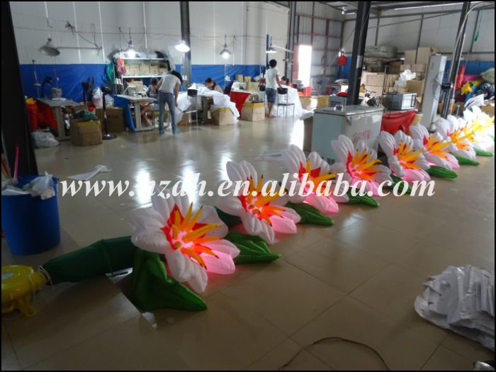 Hot Sale Lighted Inflatable Flowers Chain/Inflatable Artificial Flower For Wedding Decoration