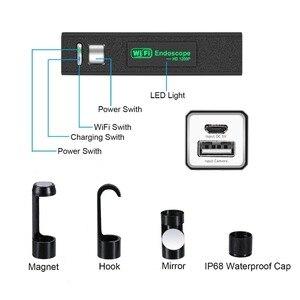 Image 3 - WIFI Endoscope Camera HD 1 10M Mini Waterproof Hard Wire Wireless 8mm 8 LED Borescope Camera For Android PC IOS Endoscope