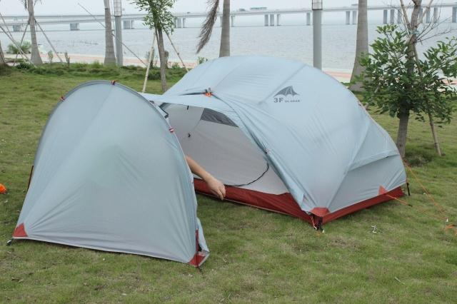 ФОТО 3F UL Gear Tent Vestibule for 20D Silicone Nylon Fabric Gear Shed For Single 1 or 2 Person Camping Tents