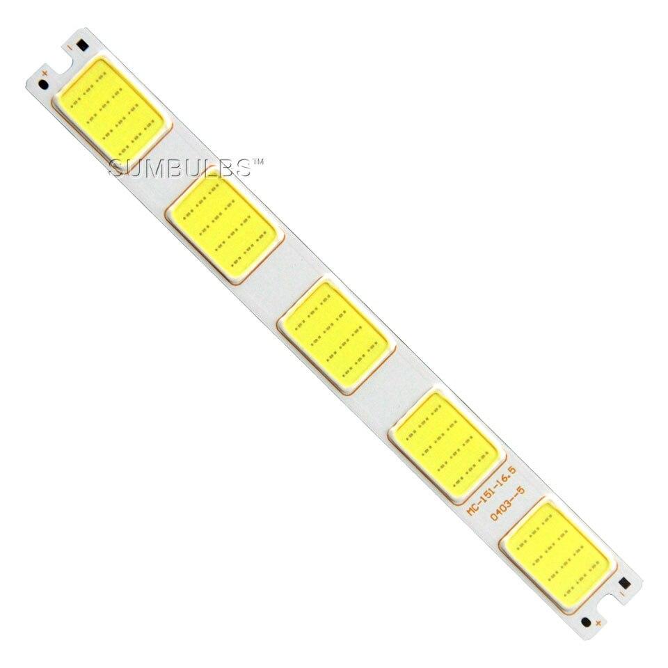 Sumbulbs Grid Shape LED Light Source 12V COB Lamp 5W White Color 151*16.5mm For DIY Car Lamp Cedorative Lighting Work Lamp
