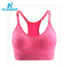 ALBREDA Women Shockproof Running Yoga Sport Bras Push Up bras Quick-dry Tank Top Fitness  Underwear With Padded Athletic Vest