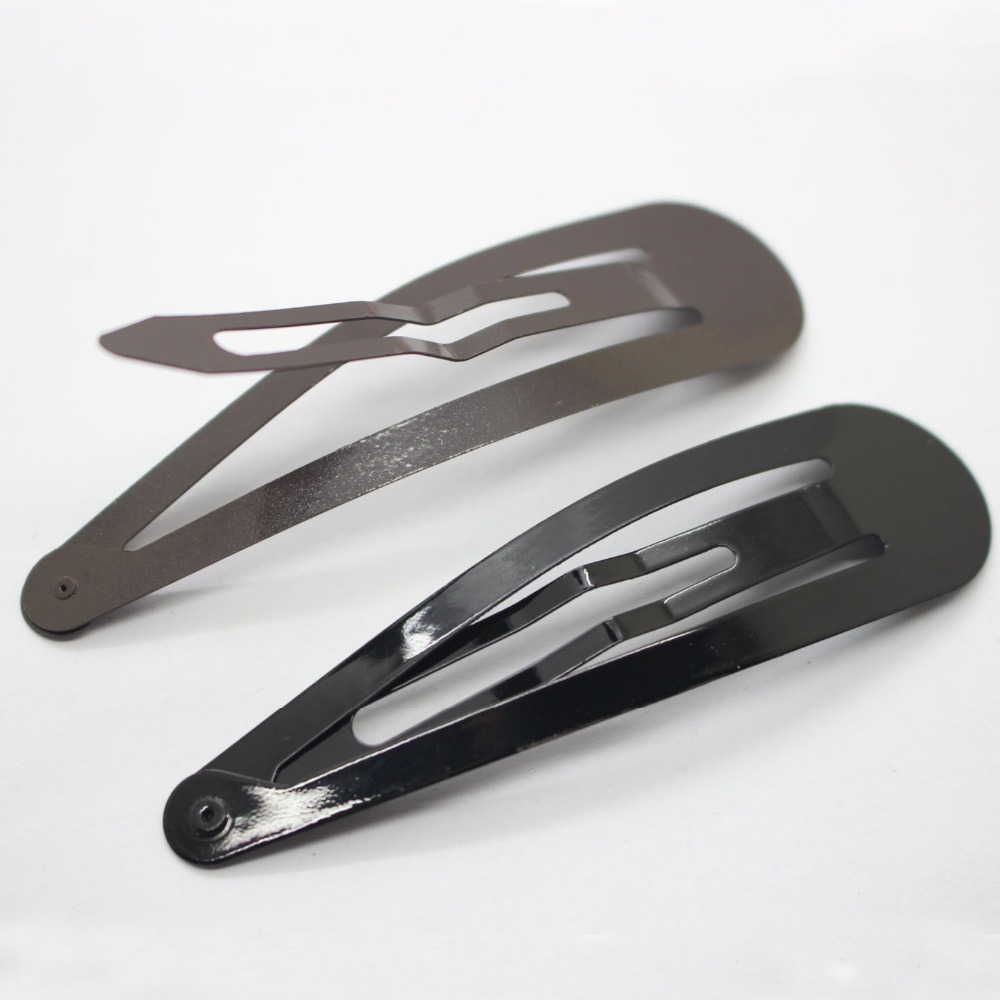 Fahionable κλιπ μαλλιών 8.5cm μαύρο και καφέ - Αξεσουάρ ένδυσης - Φωτογραφία 6