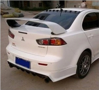 PRIMER REAR TRUNK LID AERO WING SPOILER FOR MITSUBISHI 08 11 LANCER EVO 10 OEM 2008 2009 2010 2011 FAST BY EMS