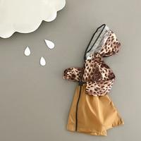 Fashion Leopard Print Impermeable Kids Raincoat For Children Rain Poncho Women Rainwear Transparent Brim Raincoats Rain Jacket