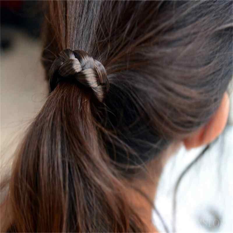 Резинки для волос для девочек, аксессуары для волос, женская мода, эластичность, утонченность, парик, лента для волос, растягивающиеся волосы на голову, 0339