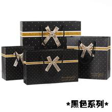 20 Pack business gift black paper bag with handle for clothes shoes candy chocolate(China)