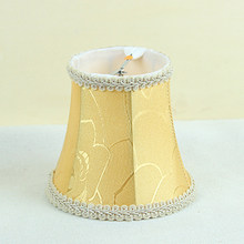 gold reflector lamp shades for chandeliers, bedroom lamp shades antique(China)