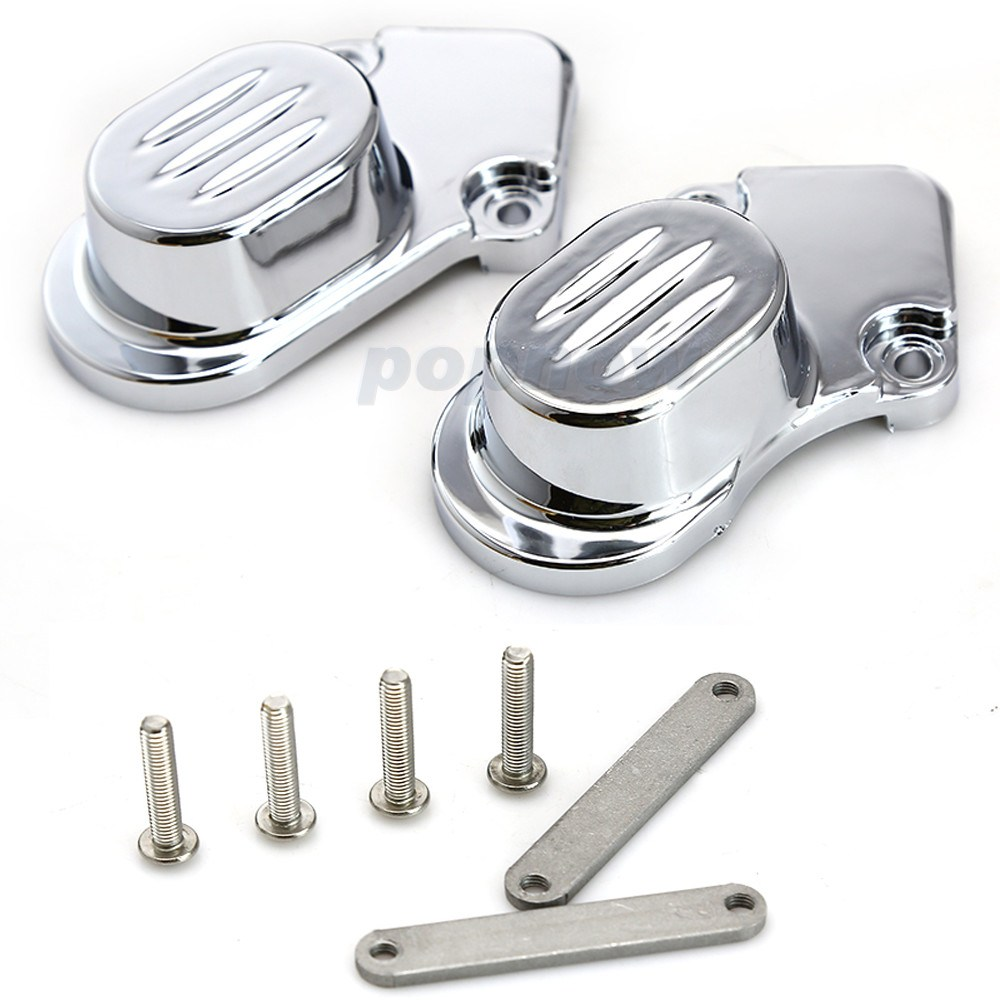 ABS Rear Chrome Axle Cap Cover Kit Motorcycle Decorative Accessories For Harley Davidson Sportster XL883 1200N 2005-2014 #7395 motorcycle accessories engine decorative cover motorbike engine cover for harley davidson 2006 sportster 1200 roadster xl1200r