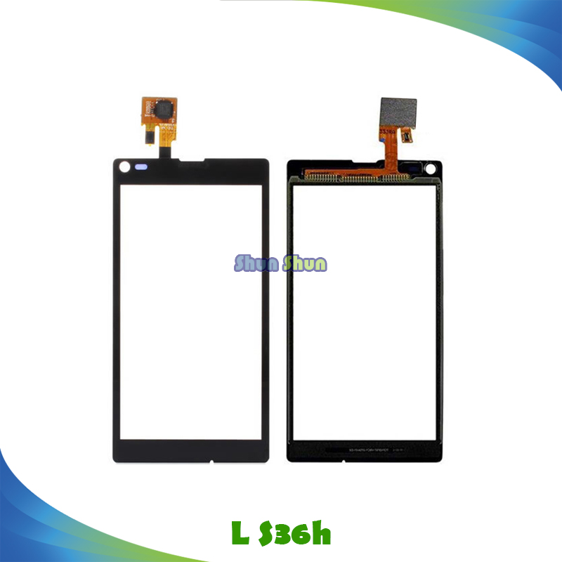 "4.3"" Touch Panel for Sony Xperia L S36 S36h C2105 C2104 Touch Screen Digitizer Sensor Front Glass Lens Black Mobile Phone Parts"
