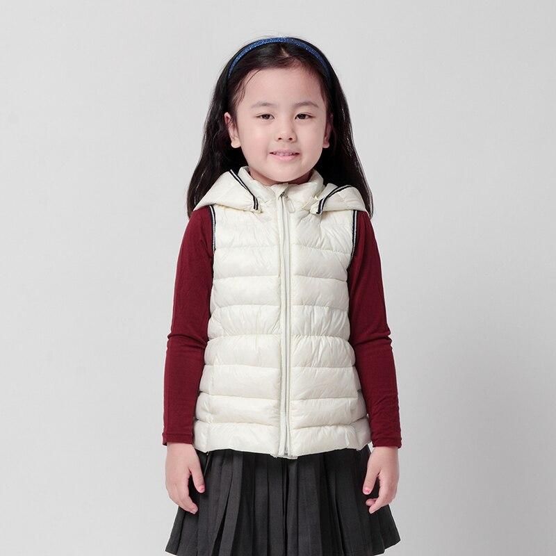 ФОТО girls vest winter 2015 moomin new arrival Children Outerwear Turtleneck girls down vest Fashion Black vest for girls