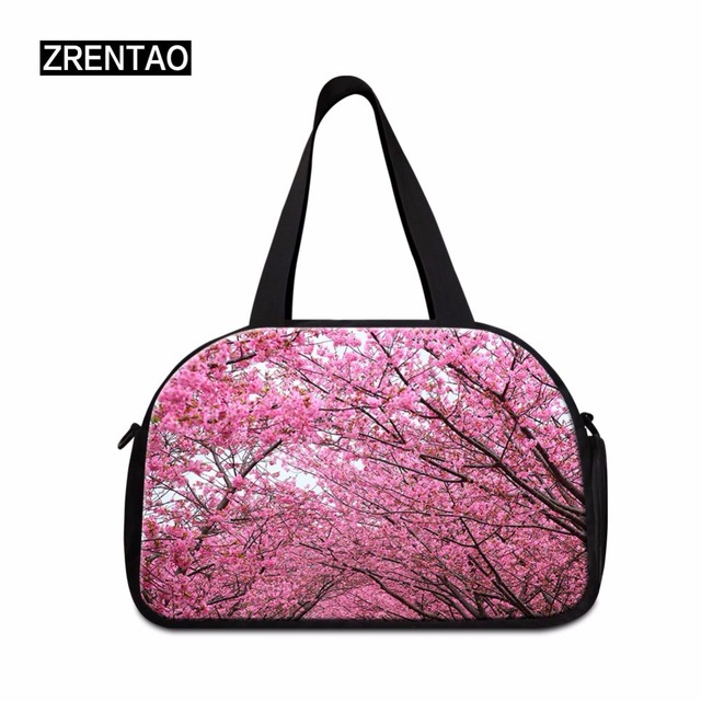 Floral Girls S ports Fitness Gym Bag Women Oxford Tote Handbags Shoulder Bags  Travel Duffle Boarding 299437dc0b