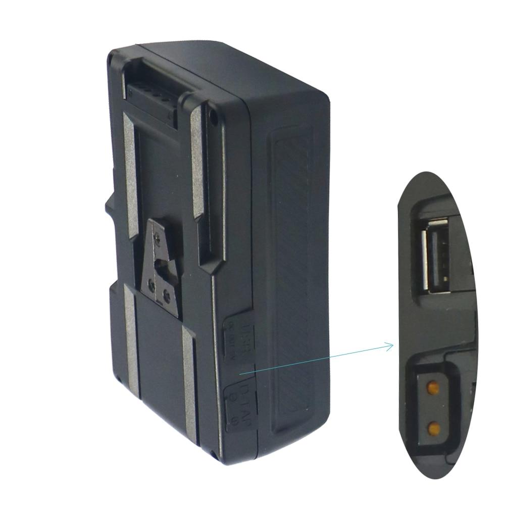 Bp-190W (13000 mAh/14.8 V) V batterie de montage V serrure pour LED photographie lumière caméra vidéo caméscope pour Sony caméra BP batterie