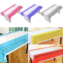 108 * 180CM Polka Dot Plastic Table Cloth Baby Shower Decoration Supplies Kids Birthday Party Disposable Tablecloth
