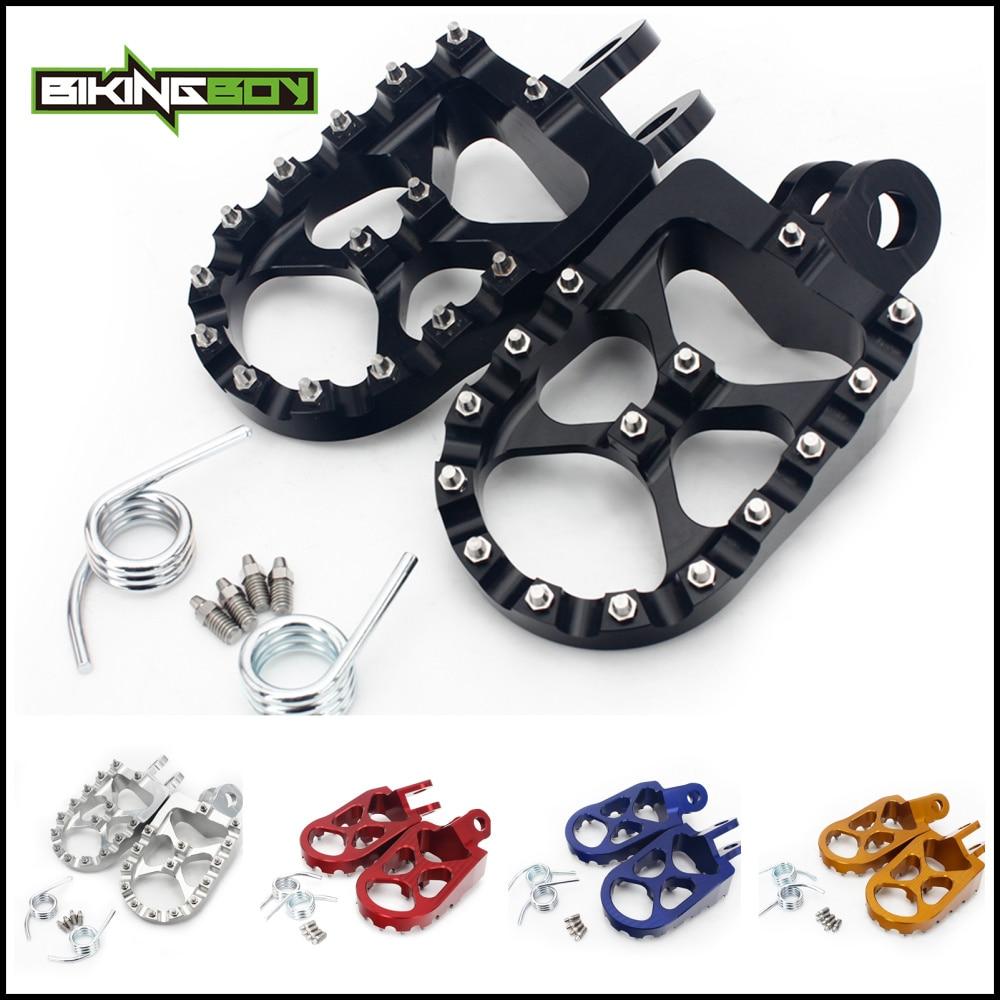 BIKINGBOY For Suzuki DRZ 400 00-04 DRZ400S 00-16 DRZ400E 00-07 DRZ400SM 05-16 RM 125 250 91-02 RMX 250 S R MX Footpegs Foot Pegs