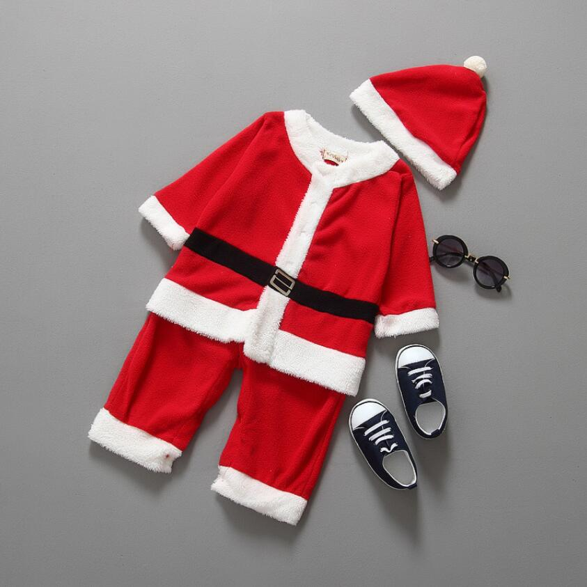 New baby boy girl clothing Santa Claus Costume christmas and new year vestido infantil clothes