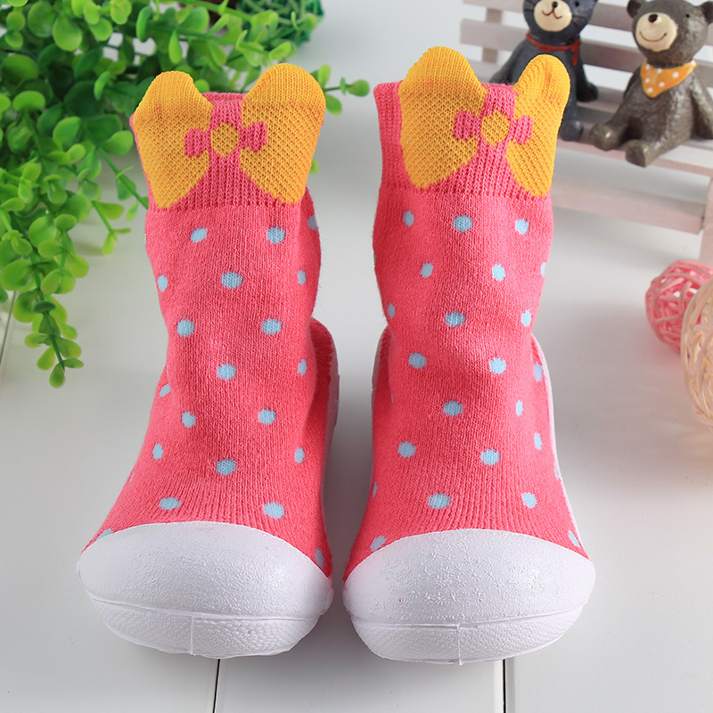 3pair/lot Anyongzu Anti skid Floor Socks Toddler Thickened Soled Shoes Baby Shoes