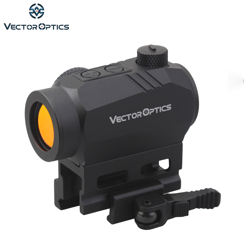 Vector Optics Harpie AR15 M4 AK47 Rouge Dot Scope Red Dot Sight avec QD Picatinny Riser Mount 20000 Heures de Fonctionnement -temps