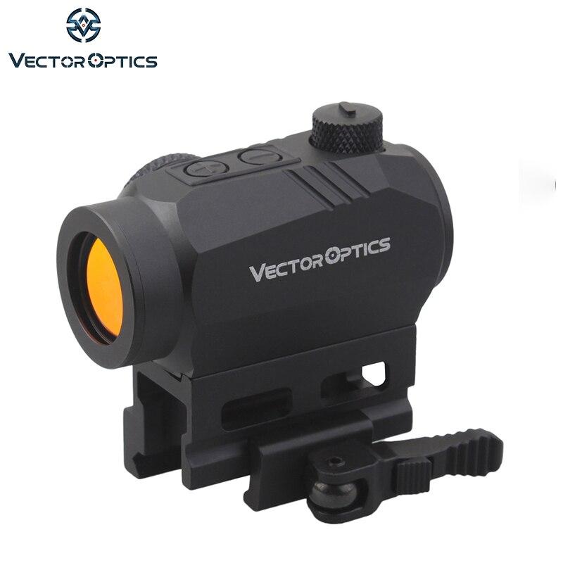 Vector Optics Harpie AR15 M4 AK47 Point Rouge Portée viseur point rouge avec QD Picatinny Riser Mount 20000 Heures Run-time