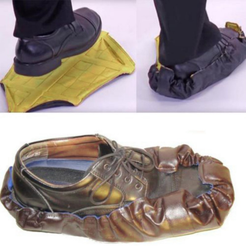 2018 new design 15 seconds fast shoe cover Repeated slippers Hand Free Sock Shoe Covers Automatic Shoe Covers new