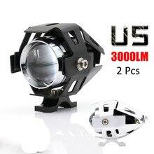 2 pcs Waterproof Motorcycle LED Headlight 3000LM Motorbike LED Driving Fog Spot Head Light Lamp