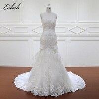 Eslieb Elegant Sweetheart Appliques Lace Mermaid Wedding Dresses 2018 Sexy Trumpet China Bridal Gown Plus Size