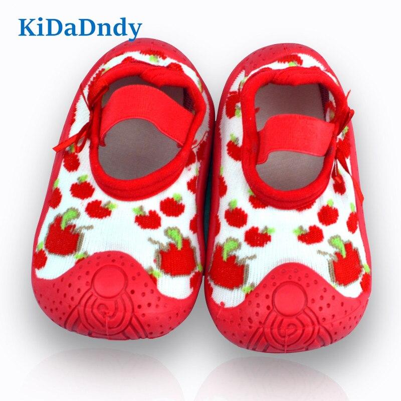 KiDaDndy Newborn Anti Slip Baby Socks For Baby Girl Toddler Indoor Floor Shoes Infant Cotton Baby Socks Rubber Soles WS920HJS