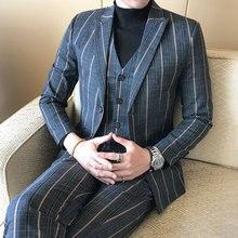 Men's Suit Jacket + Pants + Vest Fashion Business Men Popular Gentleman Clothing Male Suits & Blazer Noble Hot Sales Large Size
